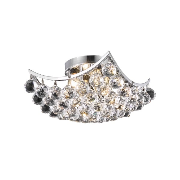 Somette Chrome 4-light Crystal Drop Chandelier