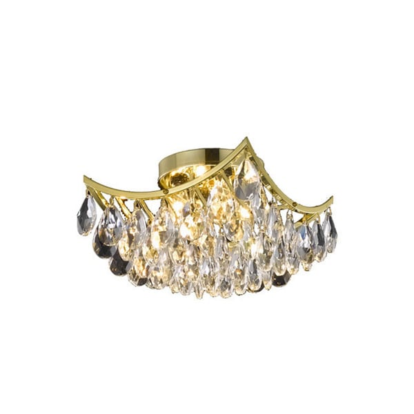 Somette Gold 4-light Crystal Drop Chandelier