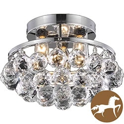 Christopher Knight Home 3-light Chrome/ Crystal Bead Chandelier