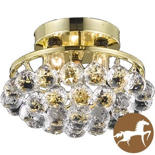 Christopher Knight Home Gold Three-Light Chandelier with Crystal Drops