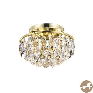 Christopher Knight Home Gold Four-Light Crystal-Drop Chandelier