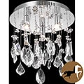 Christopher Knight Home Chrome 3-Light Crystal Chandelier