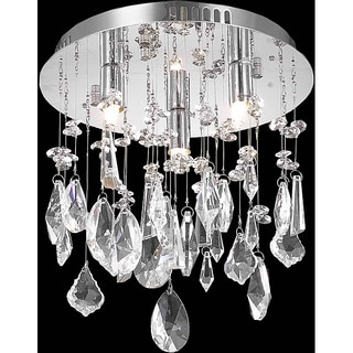 Christopher Knight Home Chrome 3-Light Crystal Chandelier