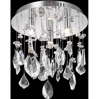 Somette Chrome 3-Light Crystal Chandelier