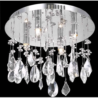 Christopher Knight Home Chrome Four-Light Flush-Mount Chandelier