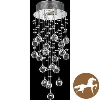 Christopher Knight Home Chrome 1-Light Teardrop-Shaped Crystal Chandelier