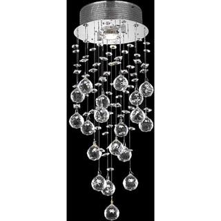Somette Chrome 1-Light Teardrop-Shaped Crystal Chandelier