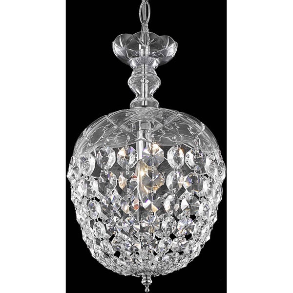 Somette Chrome 1-Light Chandelier