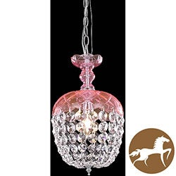 Christopher Knight Home Pink 1-Light Chandelier