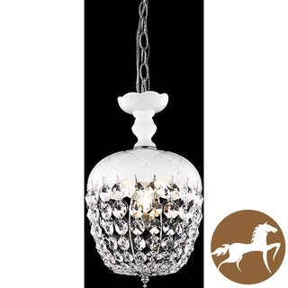 Christopher Knight Home White 1-Light Chandelier