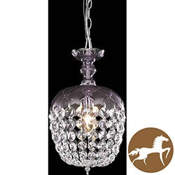 Christopher Knight Home Purple 1-Light Chandelier