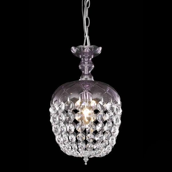 Somette Purple 1-Light Chandelier