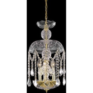 Somette Gold Crystal Chandelier