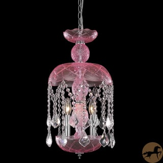 Christopher Knight Home Pink Crystal Chandelier