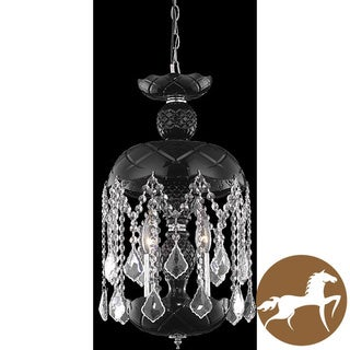 Christopher Knight Home Black 3-Light Crystal Chandelier