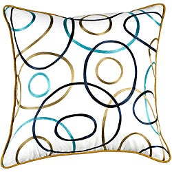 Modern Circles 22x22 Down Decor Pillow