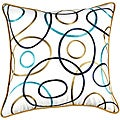 Modern Circles 22x22 Down Decor Pillow