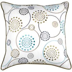 Modern Circles Multicolored 22x22 Decor Pillow