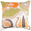 Decorative Noy Medium Multicolored Square Down Pillow