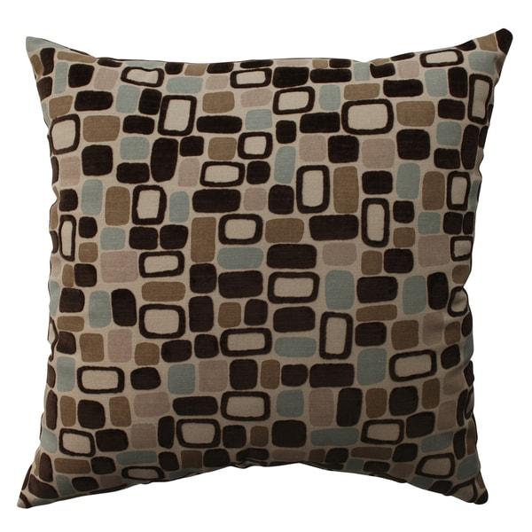 Pillow Perfect 'Pebbles' Flocked Throw Pillow