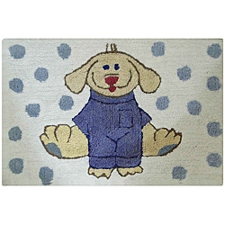 Jovi Home Dress Up Pup Blue/ White 24 x 36 Bath Rug