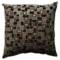 Pillow Perfect 'Pebbles' Flocked Polyester Throw Pillow