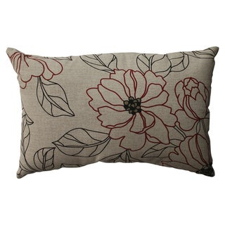 Pillow Perfect Floral Rectangle Throw Pillow