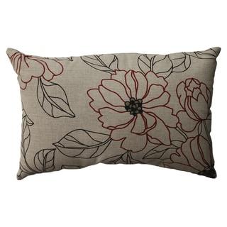 Pillow Perfect Floral Rectangle Throw Pillow