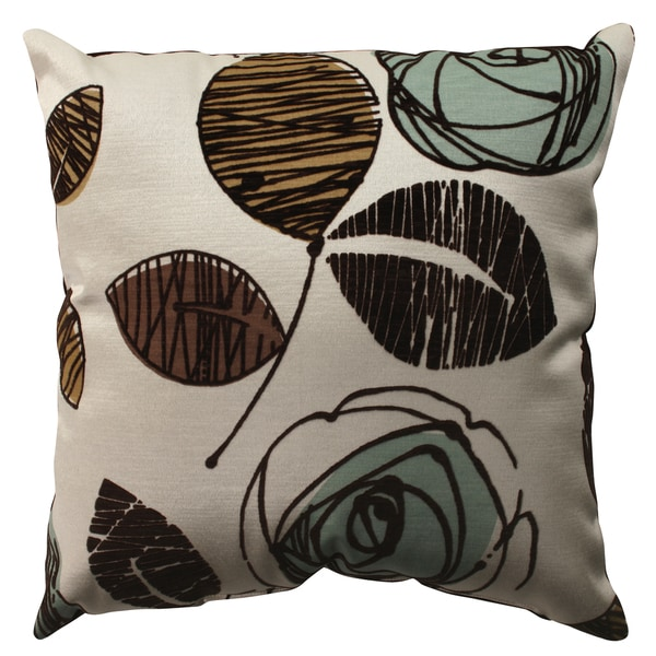 Pillow Perfect Floral Flacked Throw Pillow