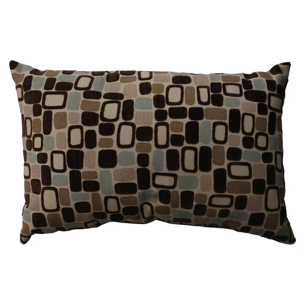 Pillow Perfect 'Pebbles' Flocked Contemporary Throw Pillow