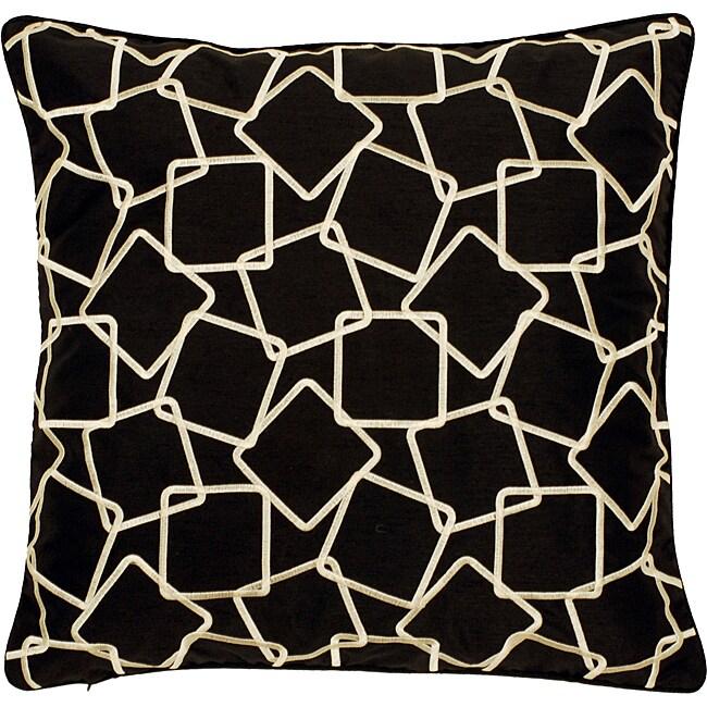 'Laught' Geometric Down Decorative Pillow