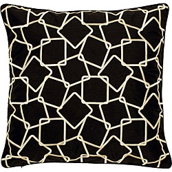'Laught' Geometric Down Decorative Pillow