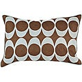 'Space' Circles Down 13x20 Decorative Pillow