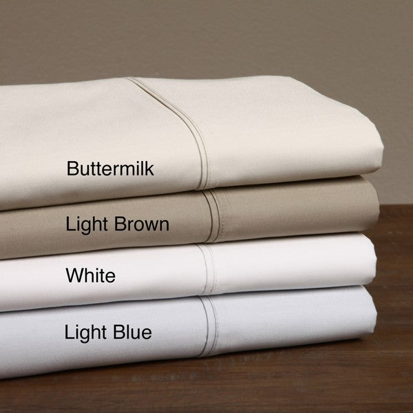 Cotton Sateen 600 Thread Count Sheet Set