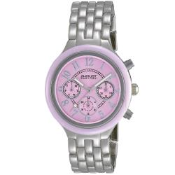 August Steiner Women's Swiss Quartz Multifunction Ceramic Bezel Watch