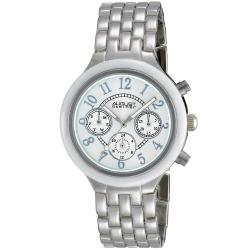 August Steiner Women's Swiss Quartz Multifunction Ceramic Bezel Mineral Crystal Watch