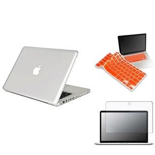 INSTEN Orange Keyboard Shield/ LCD Protector/ Laptop Case Cover for Apple MacBook Pro