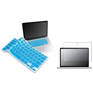 Blue Keyboard Shield/ Screen Protector for Apple MacBook Pro