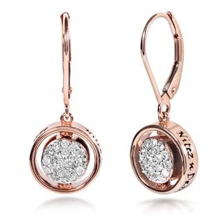 Annello Nitez N Daze 14k Rose Gold 5/8ct TDW Dangle Diamond Earrings (H-I, I1-I2)