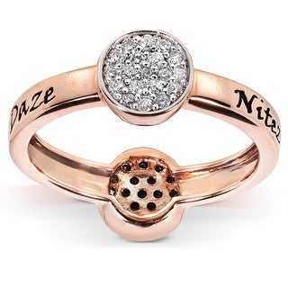 Nitez N Daze 14k Rose Gold 1/3ct TDW Diamond Ring (H-I, I1-I2)