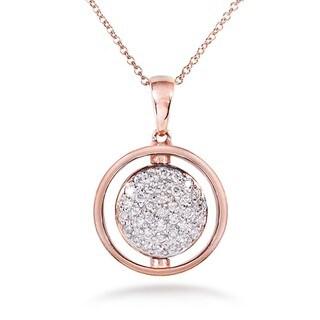 Annello Nitez N Daze 14k Rose Gold 5/8ct TDW Black and White Diamond Necklace (H-I, I1-I2)