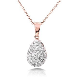 Annello Nitez N Daze 14k Rose Gold 7/8ct TDW Black and White Reversible Diamond Necklace (H-I, I1-I2)