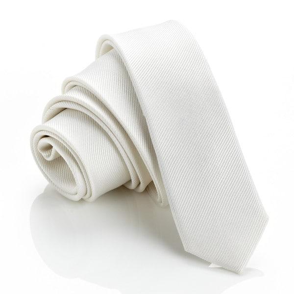 H. Luzzario & Co. White Slim Tie