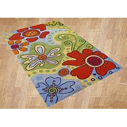 Alliyah Handmade Kids Multicolored New Zealand Blend Wool Rug (4' x 6')