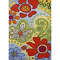 Hand-tufted Alliyah Kids Medium Multicolored New Zealand Wool Blend Rug (4' x 6')