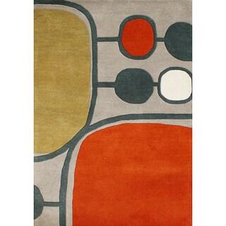 Alliyah Handmade Aluminum New Zealand Blend Wool Rug (8' x 10')