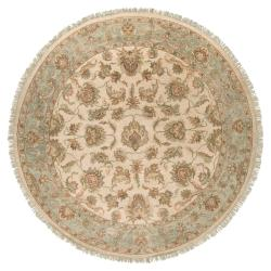 Hand-knotted Newell New Zealand Hard Twist Wool Rug (8' Round)