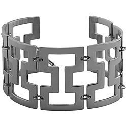 Fremada Stainless Steel Solid Geometric Bracelet