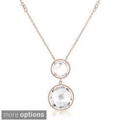 Collette Z White Quartz By the Yard Necklace