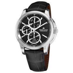 Maurice Lacroix Men's PT6188-SS001-330 'Pontos' Chronograph Black Strap Watch